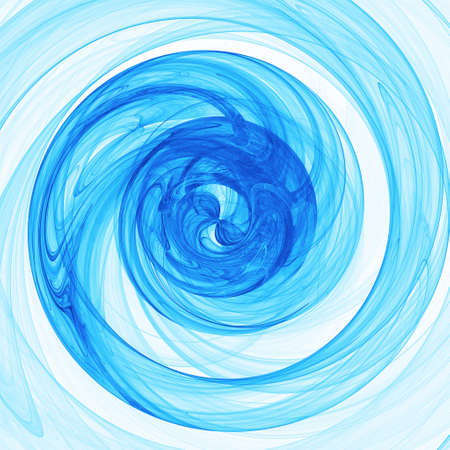 ray tracing: abstract chaos blue rays twirl on white background Stock Photo