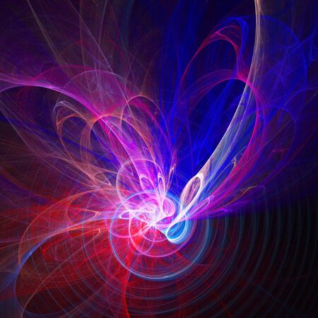 abstract colorful flame radio waves on dark background Stock Photo - 1851746