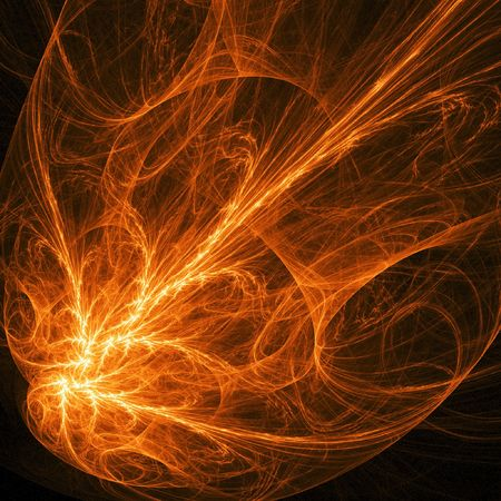 abstract chaos phoenix flame on dark background Stock Photo - 2047566