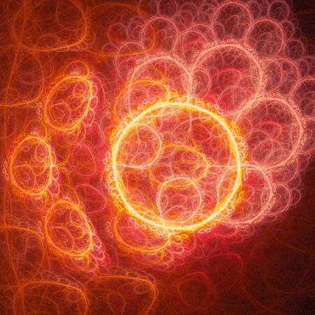 chaos egg cells inside body on dark background photo
