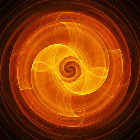 fate: abstract chaos fate wheel rays on dark background Stock Photo