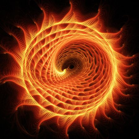 hot wheels: abstract chaos fire dragon rays on dark background