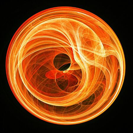 abstract fire burn rays swirl on dark background Stock Photo - 2269531