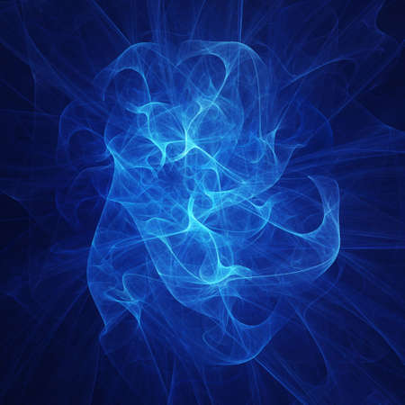 abstract chaos blue smoke rays on dark background Stock Photo - 2319329