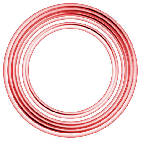 powerful creativity: abstract dream circle rings on white background