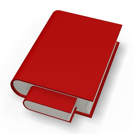 red book or dictionary nested isolated on white background Banco de Imagens
