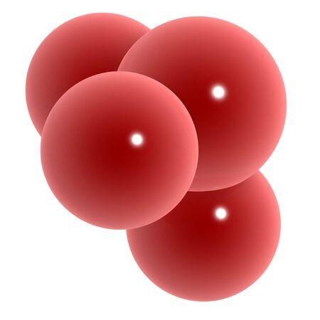reproductive technology: 3d gl�bulos rojos aislados en fondo blanco  Foto de archivo
