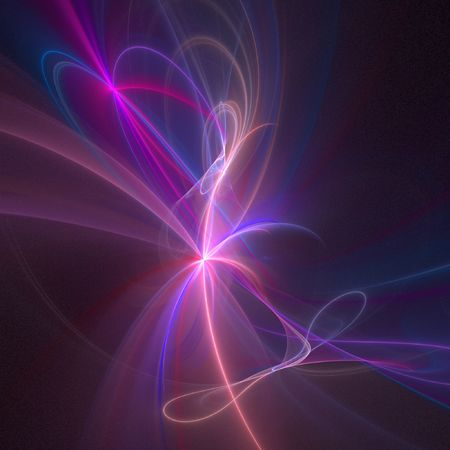 fume: abstract chaos fume curve rays on dark background Stock Photo