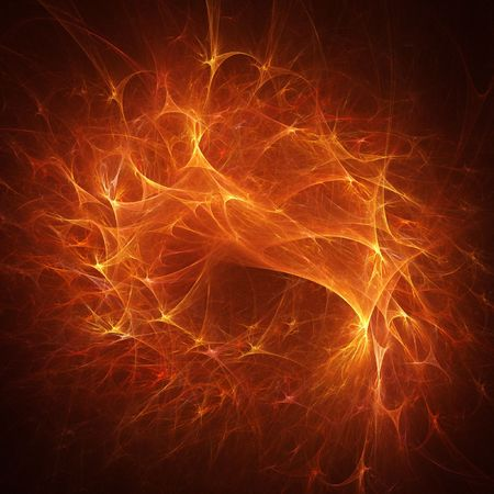 abstract chaos fire ocean rays on dark background Stock Photo - 3027163
