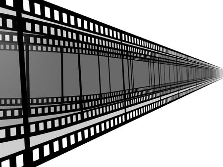 3d blank films strip over white background Stock Photo - 3027170