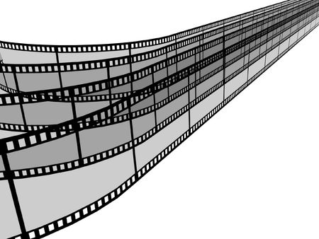 3d blank films strip over white background Stock Photo - 3027172