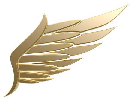 aigle royal: 3d aile symbole isol� sur fond blanc