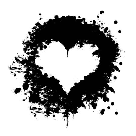 blood heart shape on white background Stock Photo - 3074066