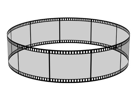 3d blank films ring over white background Stock Photo - 3074061