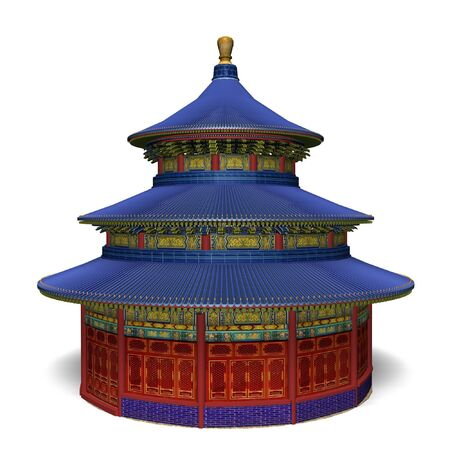 temple of heaven: temple of heaven in china isolated on white background Stock Photo