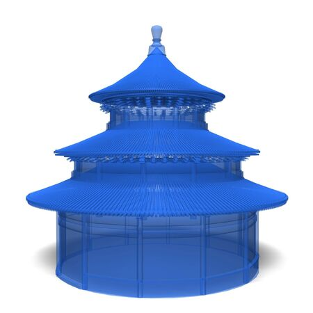 temple of heaven: temple of heaven in china model isolated on white background