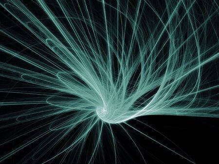 abstract Tentacles rays beam on dark background Stock Photo - 3255741