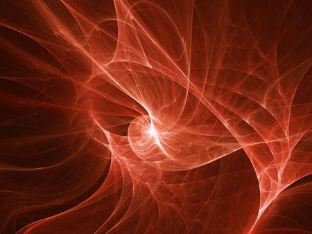 rays light: abstract red ray flame curves on dark background Stock Photo