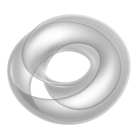 abstract 3d render mobius ring isolated on white background photo