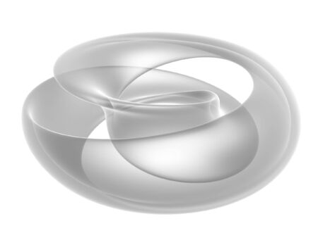 mobius: abstract 3d render mobius ring isolated on white background