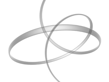mobius symbol: abstract 3d render moebius ring isolated on white background Stock Photo