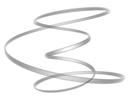 abstract 3d render moebius ring isolated on white background photo