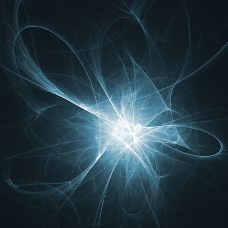 intertwine: chaos death light rays on dark background Stock Photo