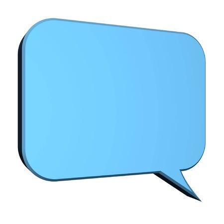 utterance: dialogue box isolated on white background