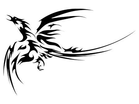 bird fly: Phoenix fly tatoo
