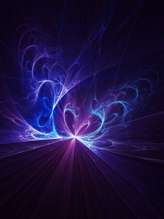 abstract blue twirl flame rays on dark background Stock Photo - 3805205
