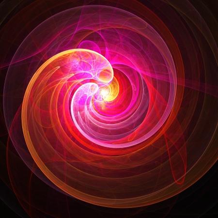 utero: astratto embrionale fiamma raggi su sfondo scuro Archivio Fotografico