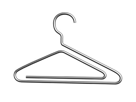 paper hanger: paper clip hanger isolated on white background