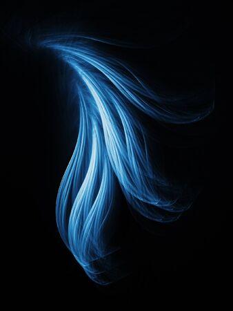fascinação: abstract tail rays shine on dark background