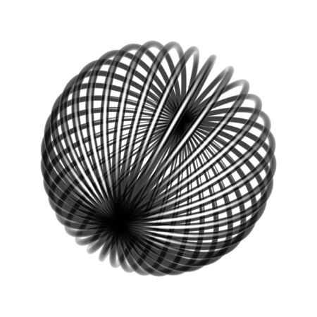 chaos wire ball isolated on white background photo
