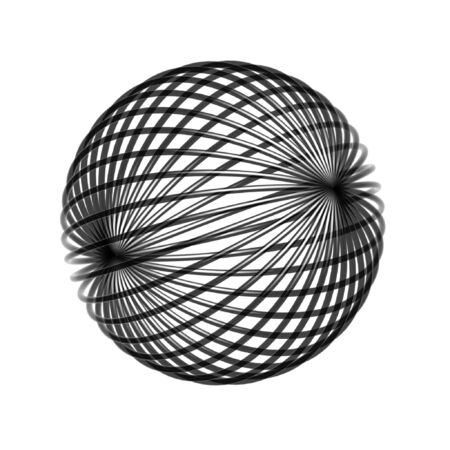 chaos: chaos wire ball isolated on white background Stock Photo