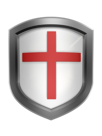 red cross shield symbol isolated on white background Stock Photo - 4467398