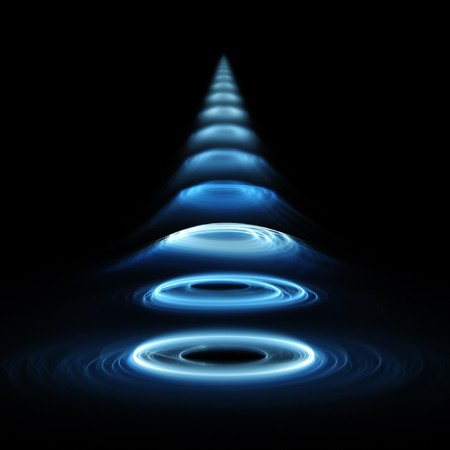 sound wave rings on dark background Stock Photo - 4501035