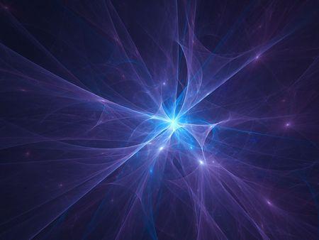 phenomena: abstract flash star core rays on dark background Stock Photo