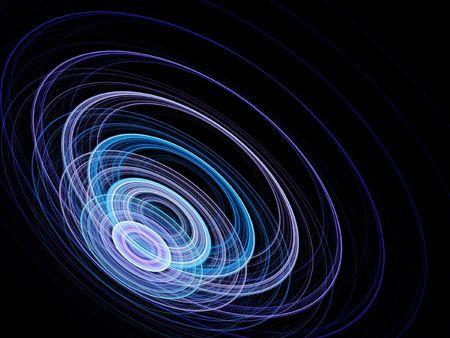 acoustics sonar wheel waves on dark background Stock Photo