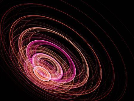 sonar: acoustics sonar wheel waves on dark background Stock Photo
