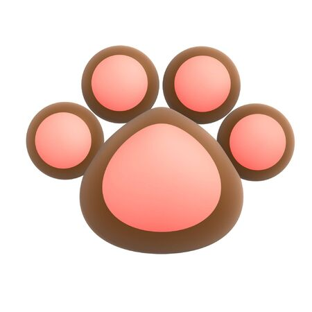 big foot: cute pet paw isolated on white background