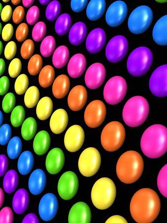 wriggle: colorful rainbow style ball background Stock Photo