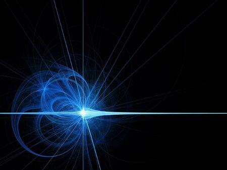 chaos starlight cross on dark space background photo