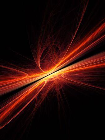 mars: abstract mars fire ray on dark background Stock Photo