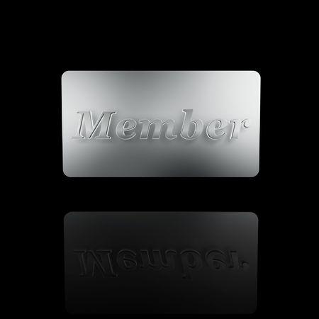 platinum member card isolated on dark background Stock Photo - 5433475