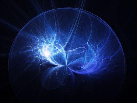 power of the mind: brain wisdom light rays on dark background Stock Photo