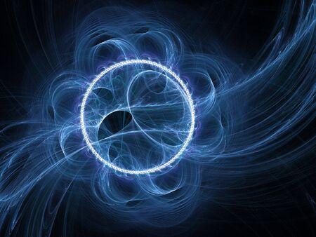 airflow: chaos flow of wind on dark background