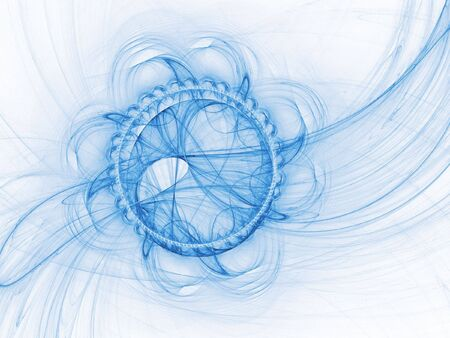 airflow: chaos flow of wind on white background