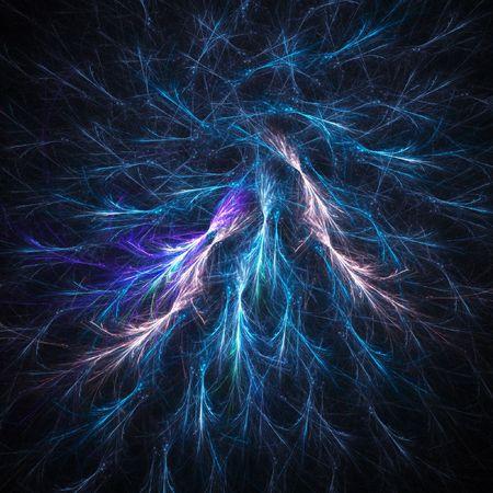 slush: spiral ice slush rays on dark background Stock Photo