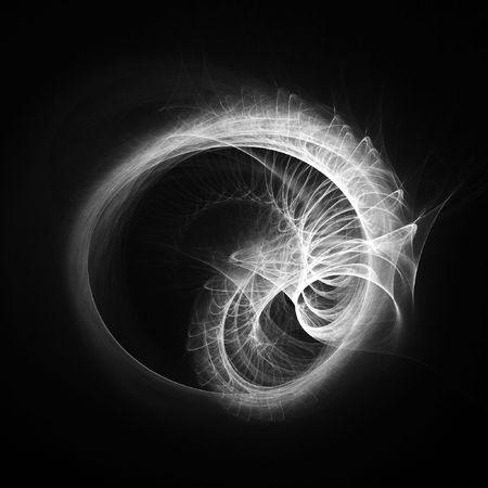 ray trace: chaos dragon wheel rays on dark background Stock Photo